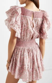 LoveShackFancy Marcella Ruffle Mini Dress in Pink 3 Preview Images