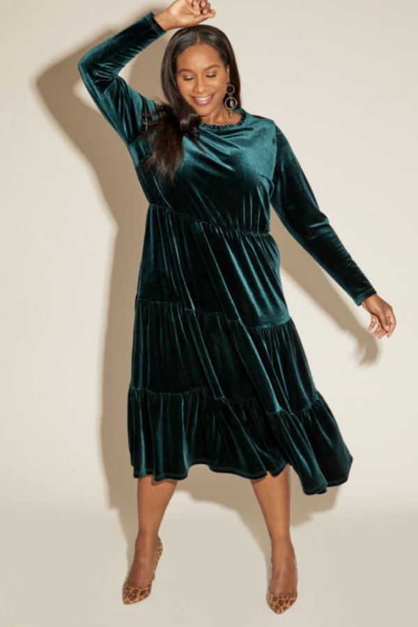 Anna Scholz Velvet Boho Dress 2