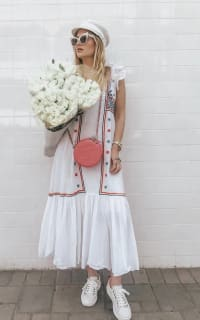 Temperley London Spellbound embroidered poplin and Swiss-dot cotton dress 4 Preview Images