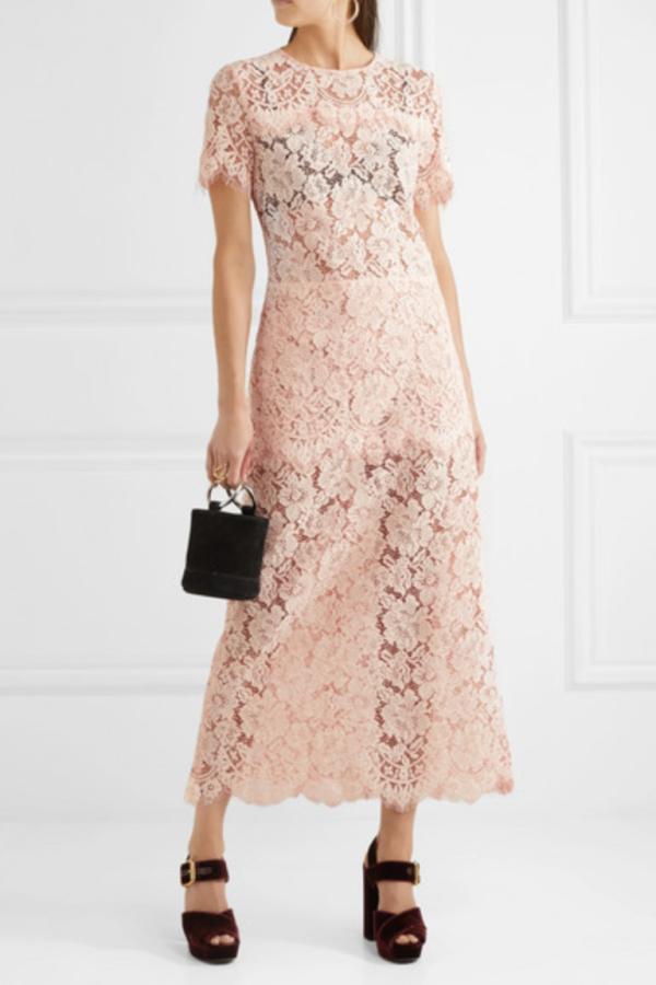 Ganni Duval corded lace midi dress 2