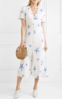 RIXO London Jade printed crepe midi dress 2 Preview Images