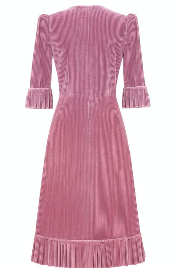 Image 2 of The Vampire's Wife the dusty rose corduroy dress