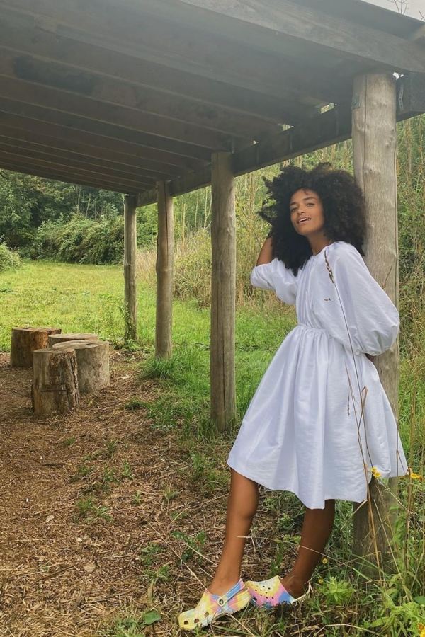 Cecilie Bahnsen Puffed-sleeve shell dress 3