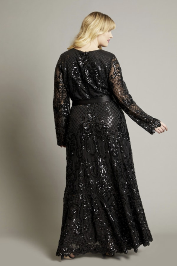 Image 2 of Anna Scholz sequin maxi gown