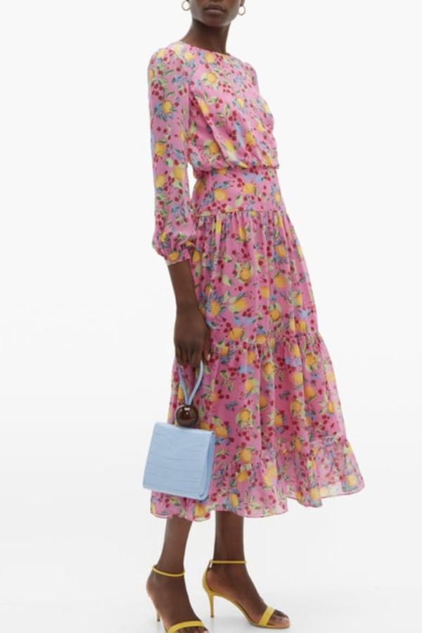 Image 2 of Saloni isabel silk-georgette dress