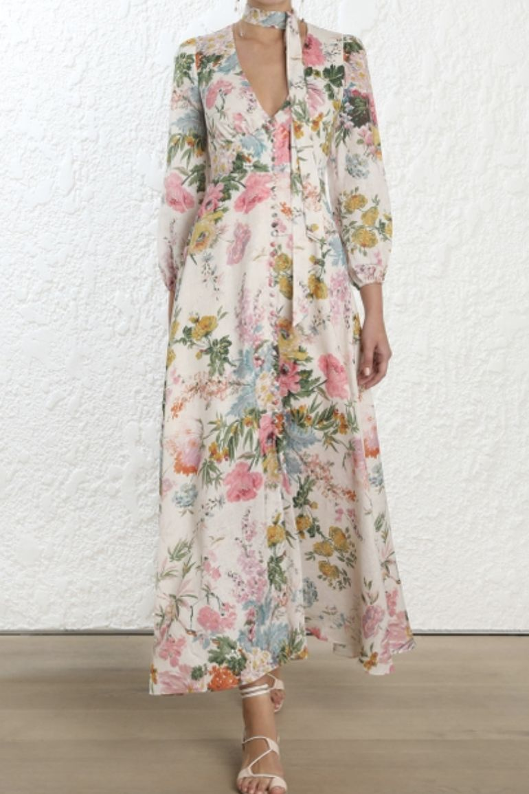 Zimmermann Heather Plunge Long Dress 2 Preview Images
