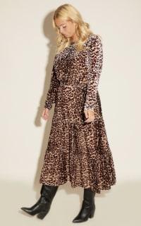 Anna Scholz Leopard Velvet Boho Dress 6 Preview Images