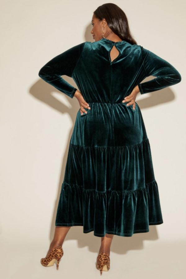 Anna Scholz Velvet Boho Dress 3 Preview Images