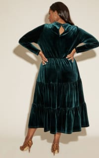 Anna Scholz Velvet Boho Dress 4 Preview Images