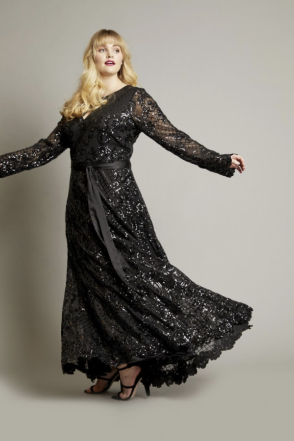 Image 3 of Anna Scholz sequin maxi gown