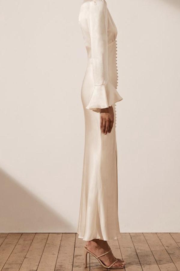 Image 3 of Shona Joy la lune frill cuff midi dress