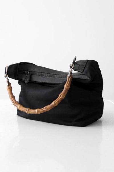 "Gucci Vintage ""Diana"" bamboo handle satchel 3"
