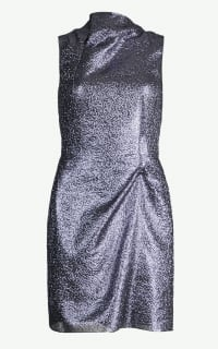 Roland Mouret Zonda metallic crepe dress Preview Images
