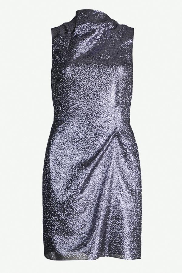 Roland Mouret Zonda metallic crepe dress
