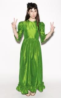 Batsheva Emerald Green Maxi Dress 3 Preview Images