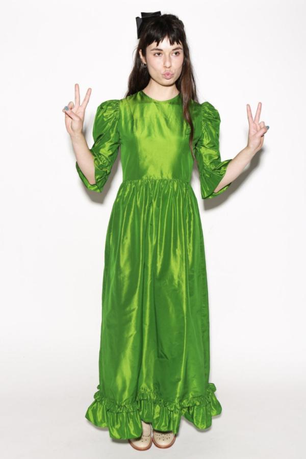 Batsheva Emerald Green Maxi Dress 3