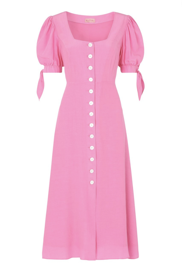 Kitri Lenora Pink Midi Dress