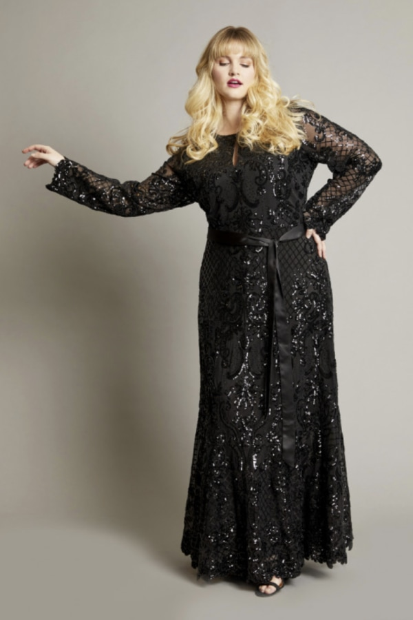 Image 4 of Anna Scholz sequin maxi gown