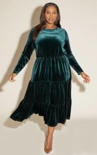 Anna Scholz Velvet Boho Dress 5 Preview Images