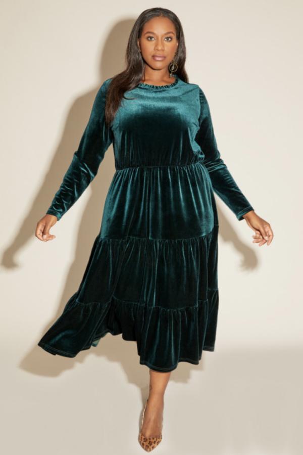 Anna Scholz Velvet Boho Dress 5