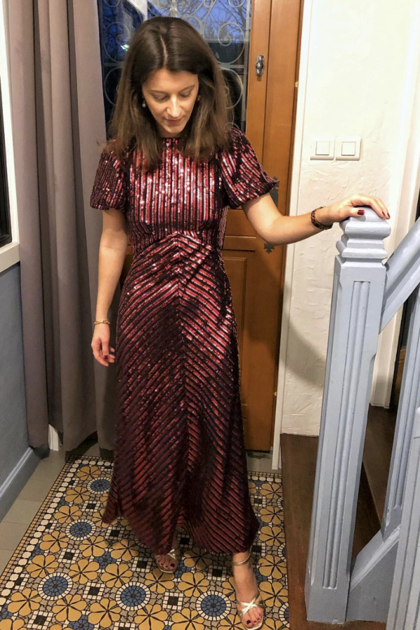 RIXO Laura Jackson Sequin Dress 4
