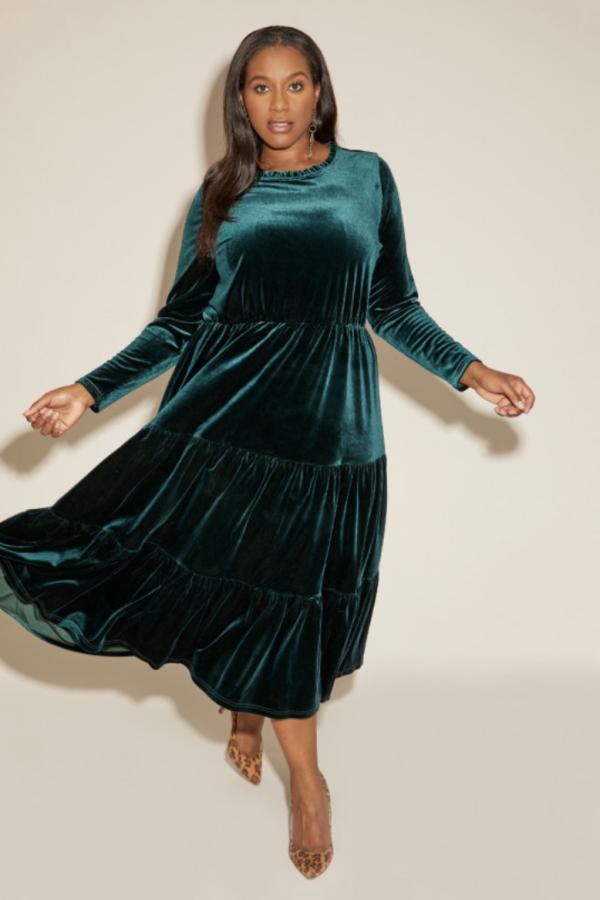 Anna Scholz Velvet Boho Dress 3