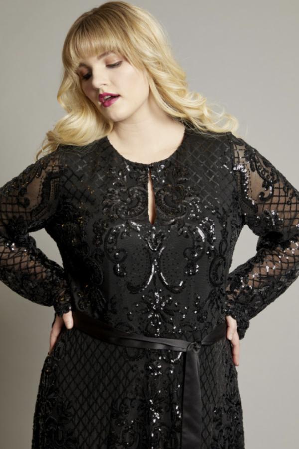 Anna Scholz Sequin Maxi Gown 5