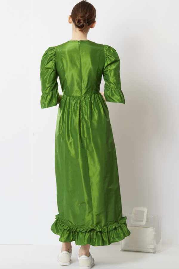 Batsheva Emerald Green Maxi Dress 4