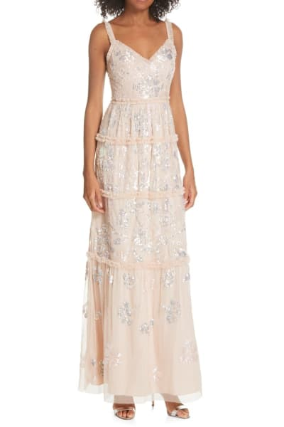 Needle & Thread Floral Gloss gown 2