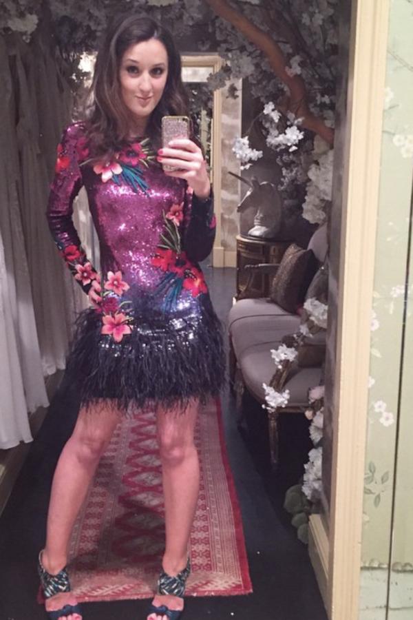 Matthew Williamson Sequin feather dress 4