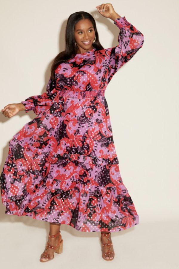 Anna Scholz Pink Polka Boho Dress 3 Preview Images