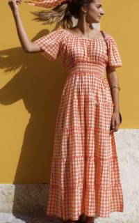 Pink City Prints Gingham Rah Rah Dress 3 Preview Images