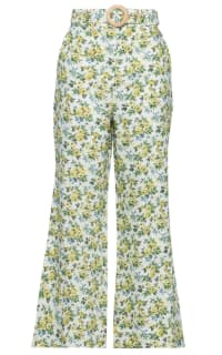 Zimmermann Floral Kick Flare Trouser Preview Images