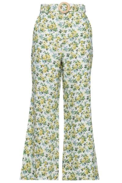 Zimmermann Floral Kick Flare Trouser