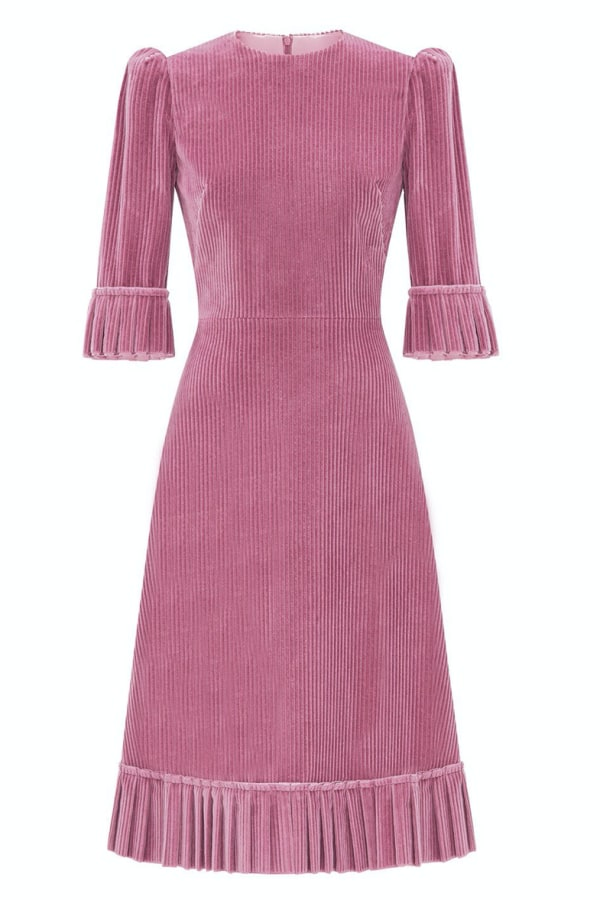 Image 1 of The Vampire's Wife the dusty rose corduroy dress