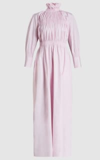 TEIJA Ruched Pink Maxi Dress Preview Images