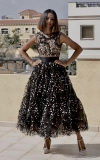 Giambattista Valli Floral tulle midi dress 3 Preview Images