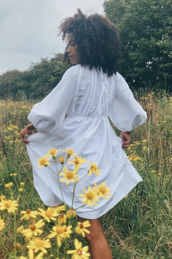 Cecilie Bahnsen Puffed-sleeve shell dress 2