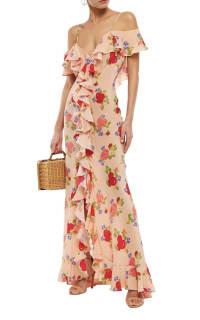 De La Vali Floral off shoulder dress 3 Preview Images