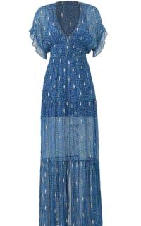 BA&SH MELA MAXI DRESS - BLUE 2 Preview Images