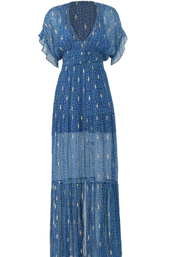 BA&SH MELA MAXI DRESS - BLUE 2