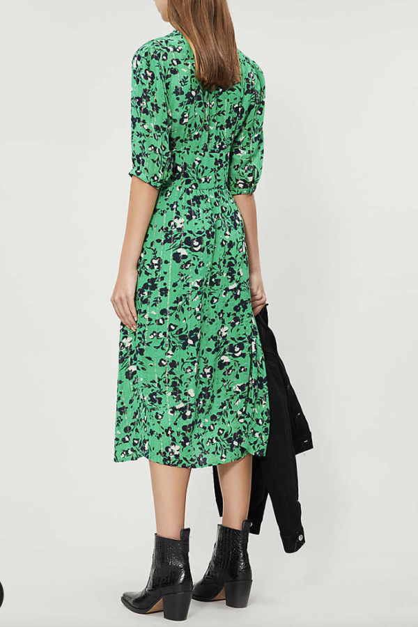 BA&SH Elfe floral-print woven midi dress 2