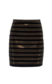 Balmain Black Embellished Velvet Mini Skirt 4 Preview Images