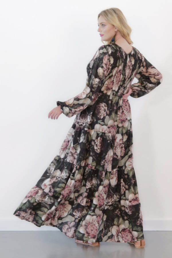 Image 2 of Anna Scholz silk shirred maxi dress