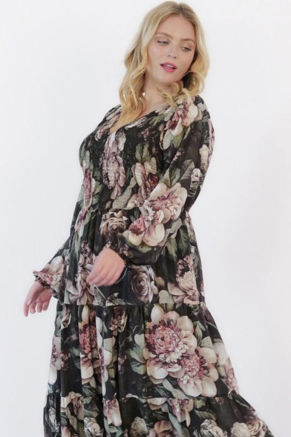 Image 4 of Anna Scholz silk shirred maxi dress