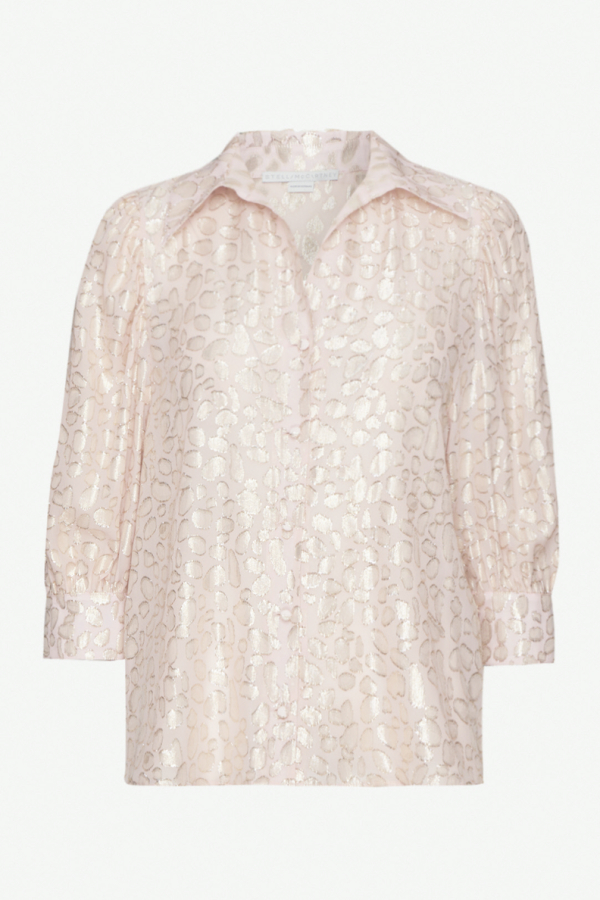 Stella McCartney Metallic fil coupé silk blend