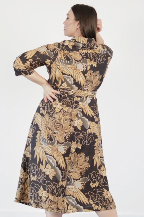 Image 3 of Anna Scholz silk shirt dress