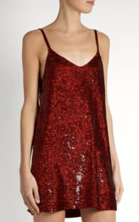 Ashish Sequin V-Neck Dress 3 Preview Images
