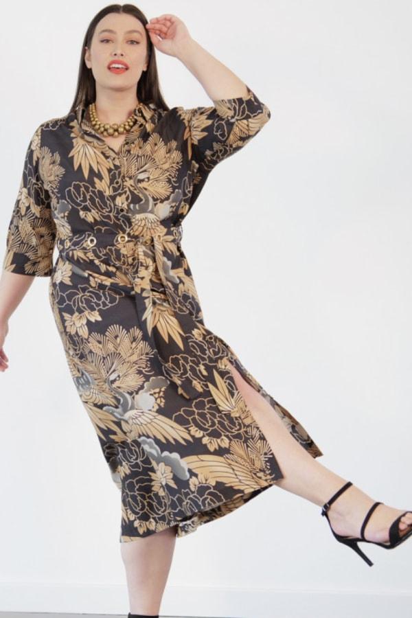 Image 4 of Anna Scholz silk shirt dress