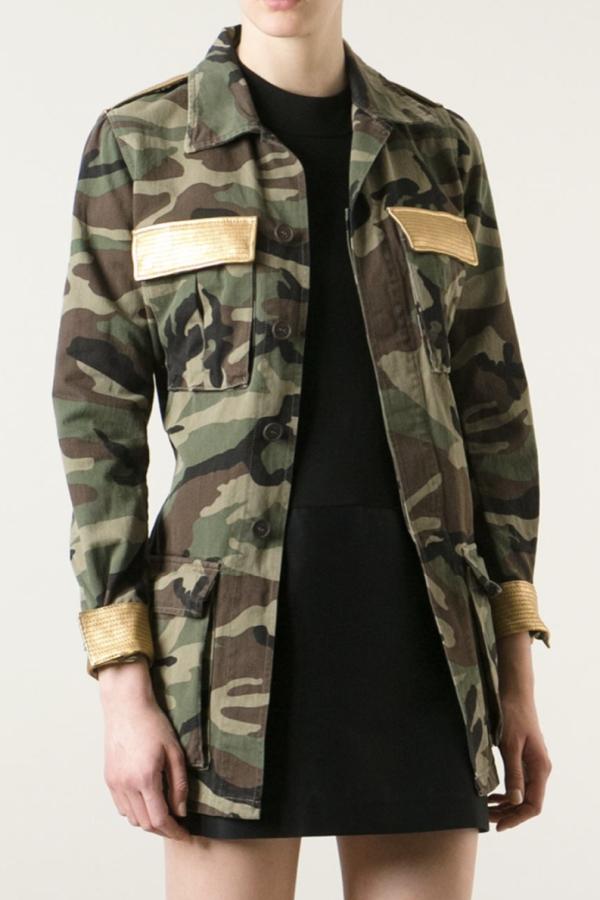 Saint Laurent Military Style Camouflage Jack 2